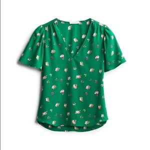 Lush blouse - Small - Green w/floral. Worn once.
